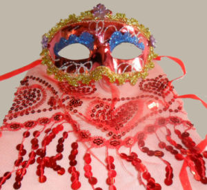 Red Sexy Lady Dancing Party Laceing Masks pictures & photos