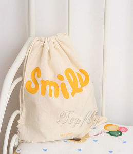 Durable Drawstring Gift Natural Cotton Shopping Bag pictures & photos