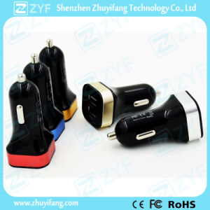 Dual USB Port Car Charger for Mobile Phones (ZYF9100) pictures & photos