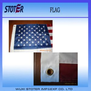Factory Direct 3X5FT 210d Nylon Embroidered American Flag pictures & photos
