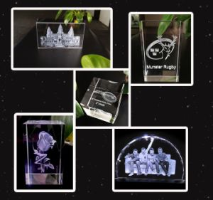 3W Table 3D Crystal Inner Engraving Green Laser Marking Machine pictures & photos