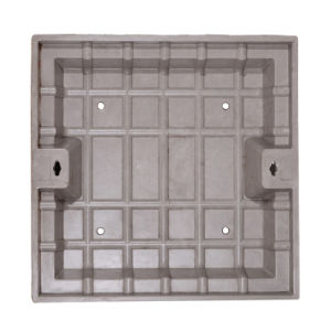 Square Composite Manhole Cover Holding Grass