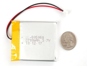 7.4V Rechargeable Lithium-Ion Battery for Safety Device (1300mAh) pictures & photos