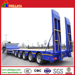 5 Axles Heavy Duty Haul Load Lowbed Semi Trailer pictures & photos