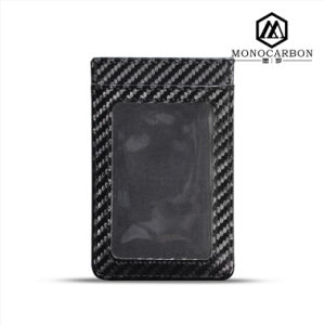 High Quality Carbon Fiber Pattern PU Leather RFID Blocking Card Holder pictures & photos