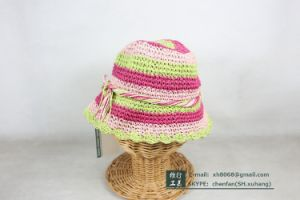 Paper Straw Cap for Kids (XH-PA2135) pictures & photos