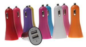 Universal Colorful Dual USB Car Charger pictures & photos
