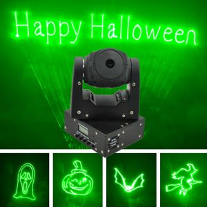 50MW Green Fat-Beam DMX Mini Moving-Head Lasers for Christmas pictures & photos