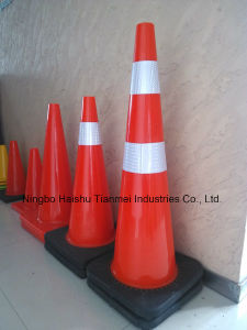 Manufacturer PVC Traffic Cone, Safety Cone with Black Base pictures & photos