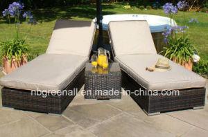 Outdoor Rattan Lounger for Garden pictures & photos