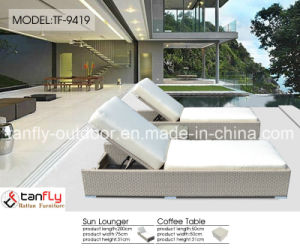 Factory Wholesale PE Rattan Wicker Outdoor Chaise Lounge pictures & photos