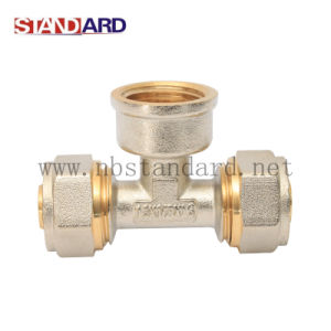 Brass Compression Fittings Tee with Nut pictures & photos