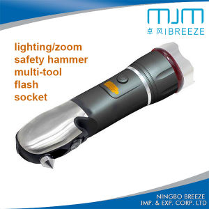 Auto Car Safety Hammer Multifunction Zoomable LED Warning Light (807F) pictures & photos
