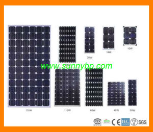 Mono-Crystal Solar Cell Panel for Home Application pictures & photos
