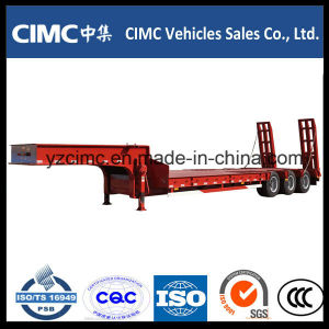 Cimc Low Bed Truck Trailer with 3 Axles pictures & photos