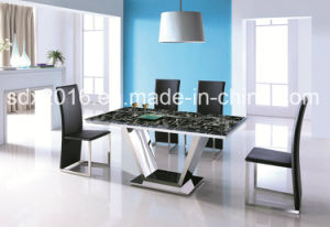 Marble Top Stainless Steel Frame Modern Coffee Tea Table Home Furniture pictures & photos