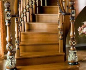 Prefinished Standard Wooden Stairs Handrails pictures & photos