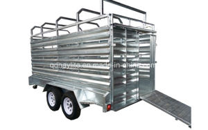 Galvanized Cattle Sheep Box Trailer pictures & photos