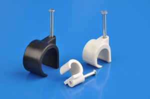 Coaxial Cable Clips (6-7mm)HDPE, nail made of carton steel) pictures & photos