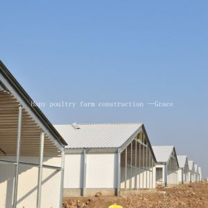 Hot Gavalnized Steel Structure Chicken House with Farm Equipment pictures & photos