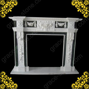 Marble Carving Fireplace Mantel for Home Decoration (GS-FF-026) pictures & photos