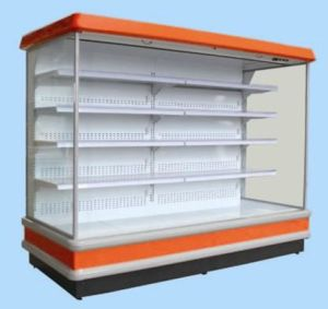 Supermarket Multideck Showcase for Fruit and Vegetable Display pictures & photos