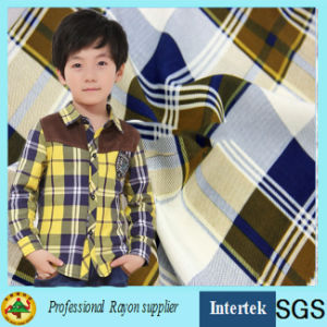 Twill Weave Shirt Fabric with Plaid Pattern pictures & photos