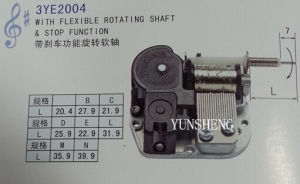 18-Note Standard Musical Movement with Flexible Rotating Shaft & Stop Function (3YE2004) pictures & photos