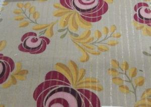 P 528 Woven Cotton / Lurex Print