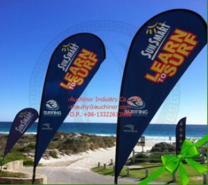 Custom Made Cheap Teardrop Beach Flag Banner for Advertising pictures & photos