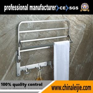 Pure 304 Stainless Steel Folding Towel Rack Bathroom Accessory pictures & photos
