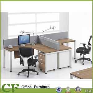 Modern Office L Shape 2 Person Desk for Staff pictures & photos