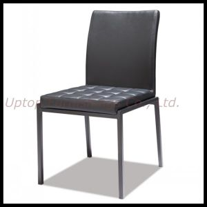 Black Armless Dining Leather Restaurant Chair (SP-LC272) pictures & photos