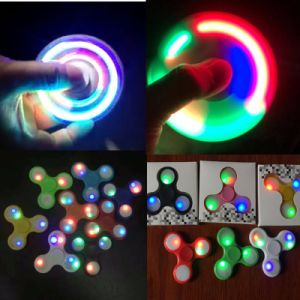 LED Light up Hand Spinners Fidget Spinner Toptriangle Finger Spinning Top Colorful Decompression Fingers Tip Tops Toys pictures & photos