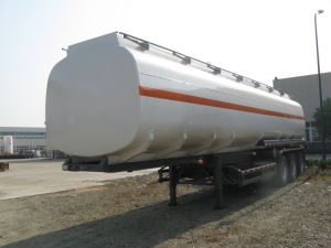 China Made 42cbm Fuel Tanker Semi Trailer pictures & photos