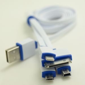 Universal Multi Function Quick Charing USB Data Cable 4 in 1 Lightning Cable for iPhone 6 for Samsung pictures & photos
