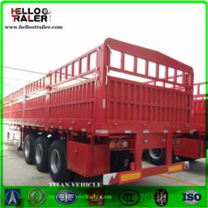 3 Axle Lorry Box Semi Trailer 50t Cargo Truck Semi Trailer pictures & photos
