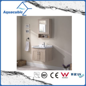 Wall-Mounted Plywood Mirror Vanity with Ceramic Basin (ACF8896) pictures & photos