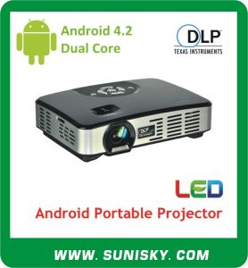 500 ANSI Lumen Mini Mobile Phone Android 4.2 Projector (SMP7047) pictures & photos