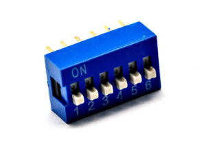 DIP Switch Slide Type 12-Pin 6-Position Blue PCB / Coding Switch