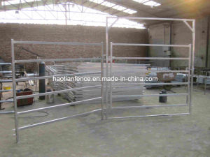 6 Bar 40mm*40mm Square Rail 2.1*1.8m Cattle Yards Yard Gate Panels pictures & photos
