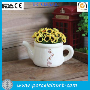 New Desgin Decoration Watering Can Ceramic Plant Pot pictures & photos
