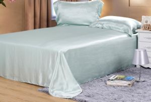 Grey Color Silk Satin 19mm Bedding Cover (FSILK-3460)