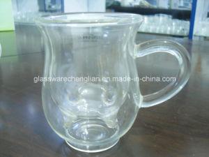 High Borosilicate Double Wall Glass Mug (SDC14423) pictures & photos