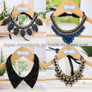 Western Style Multi-Layer Weave Rhinestone Flower Water Drop Necklace Jewelry Statement pictures & photos