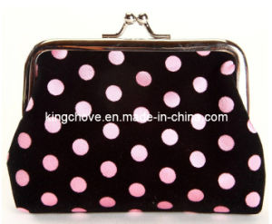 Fashion Black Cotton with Pink Dots Cosmetic Bag / Fashion Bag (KCC52) pictures & photos