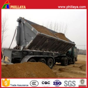 Front/Back Cylinders Tipper Semi Truck Side Dump Trailer pictures & photos