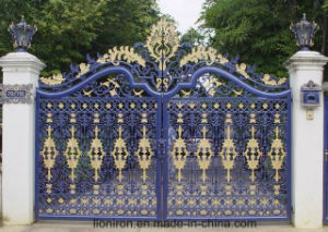Super Quality Beautiful Wrought Iron Double Swing Gates pictures & photos