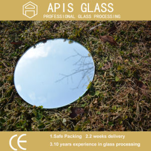 4mm Round Sliver Coated Mirror Glass with Beveled Polished Edge pictures & photos