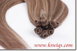 Wholesale Hand Tied Human Hair Virgin Remy Hair Extension pictures & photos